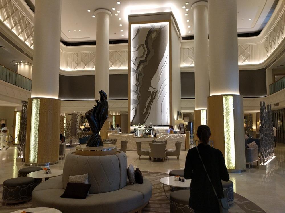 The Hilton Durbin lobby
