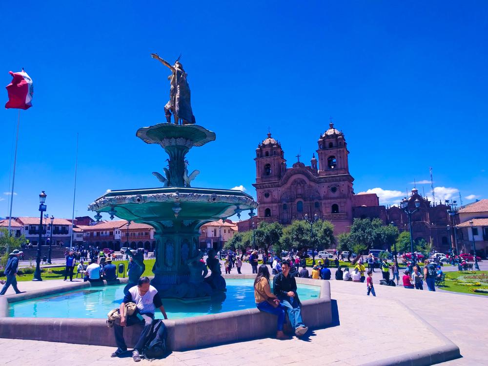 cusco plaza de armas fountain.jpg