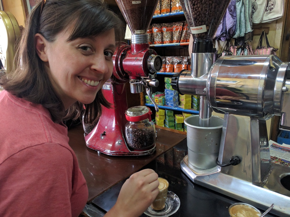 Trying Ethiopian coffee in Addis Ababa