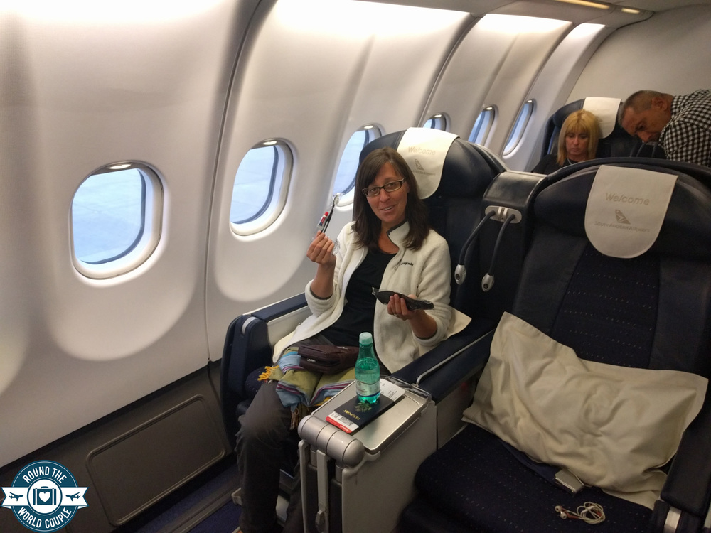 South African Airlines Business Class Sao Paolo to Johannesburg Seats