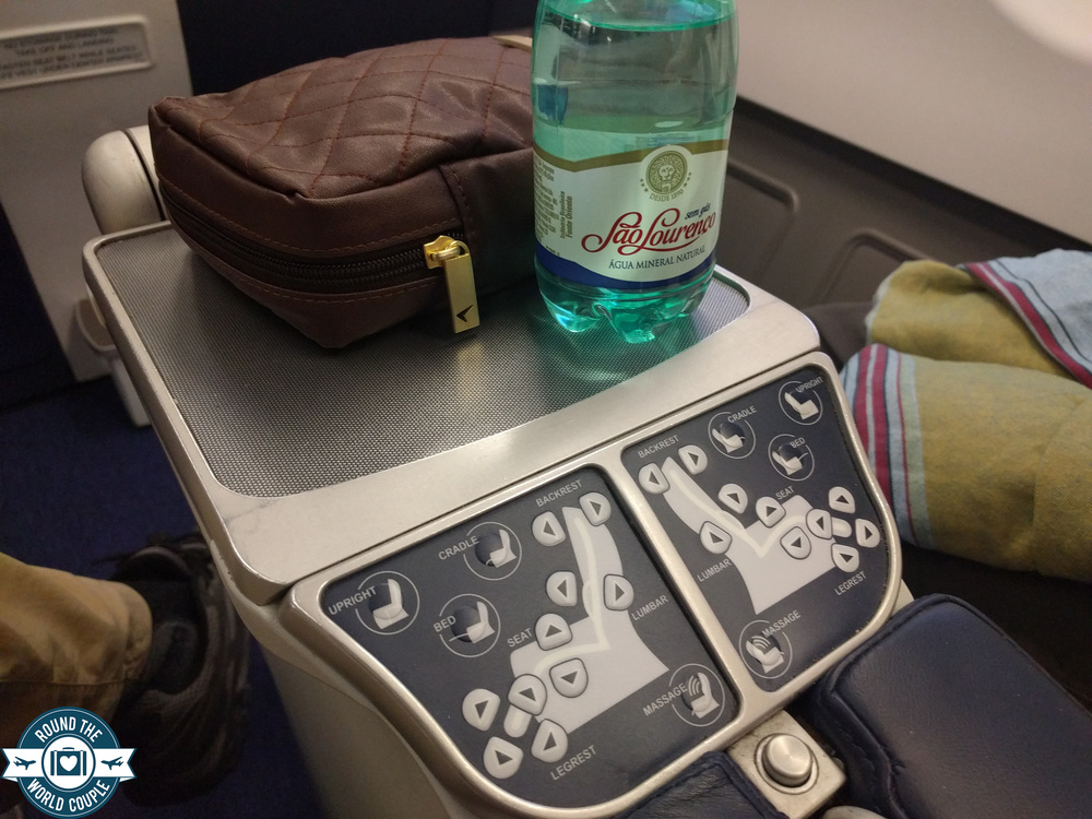South African Airlines Business Class Sao Paolo to Johannesburg Seat Controls