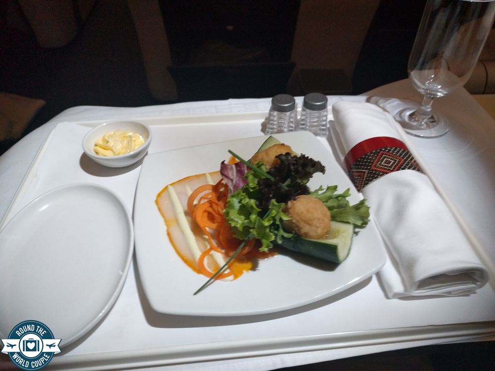 South African Airlines Business Class Sao Paolo to Johannesburg Fish Appetizer