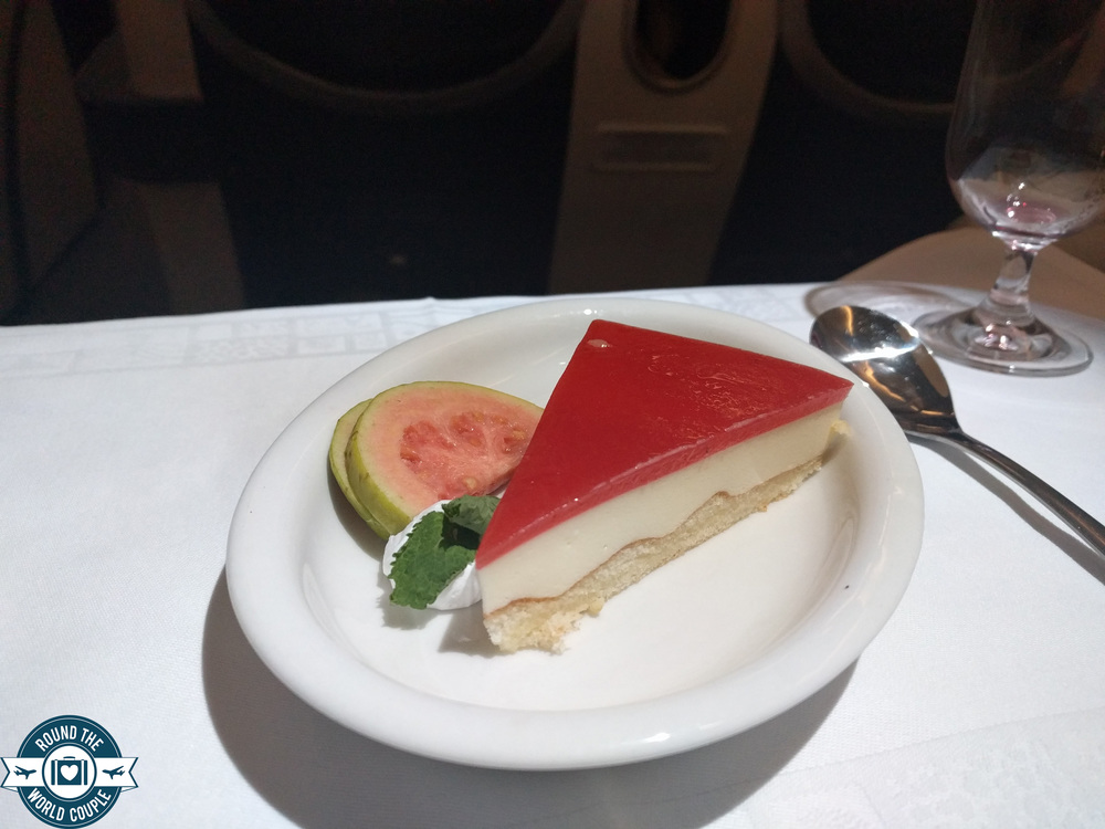 South African Airlines Business Class Sao Paolo to Johannesburg Dessert