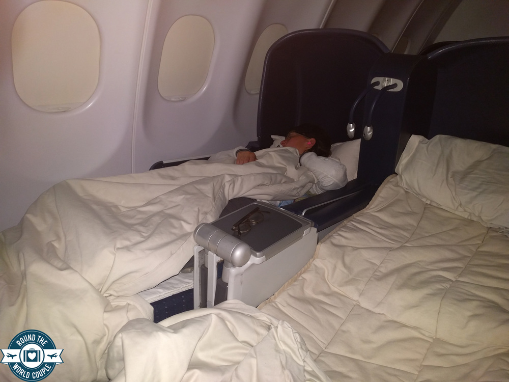 South African Airlines Business Class Sao Paolo to Johannesburg Jess Sleep