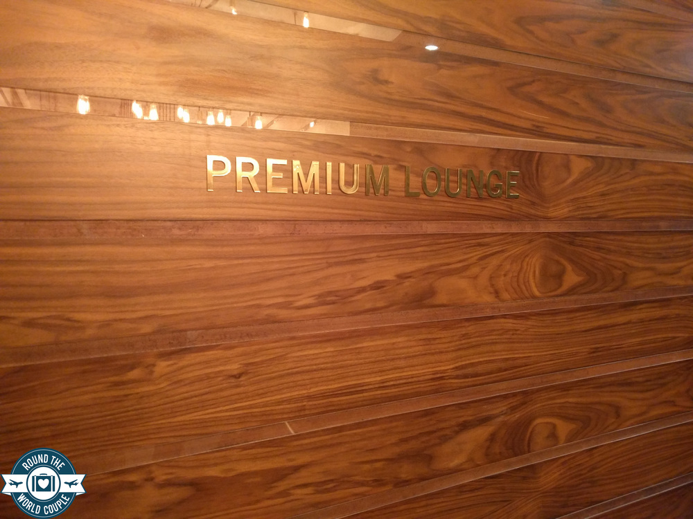 South African Airlines Premium Lounge at OR Tambo sign
