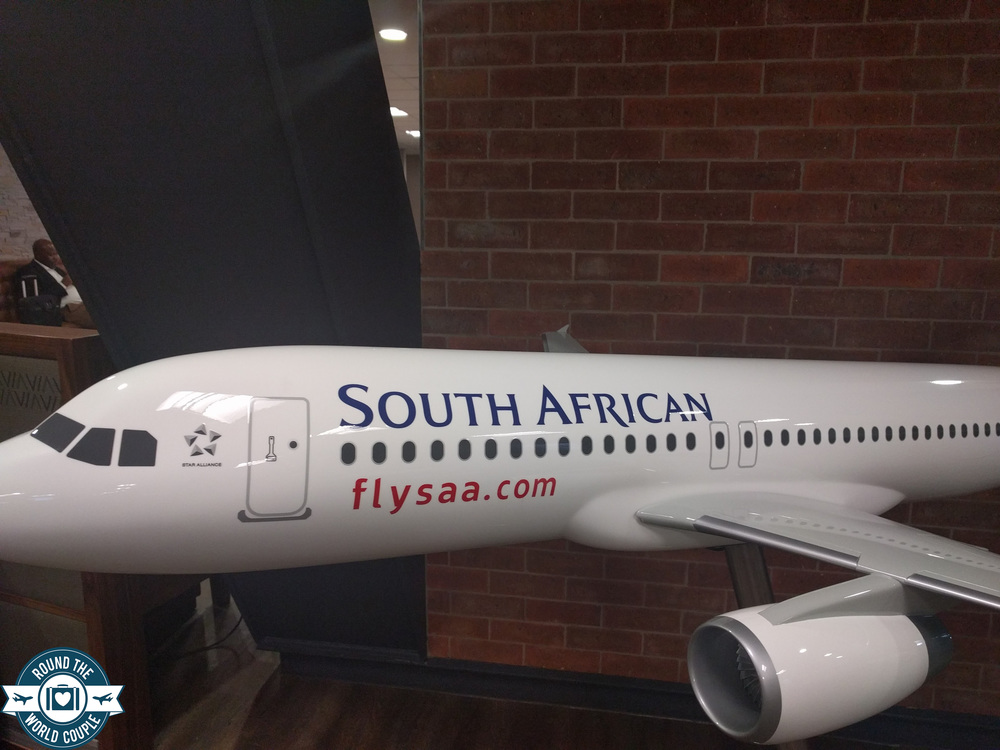 South African Airlines Premium Lounge at OR Tambo Airplane