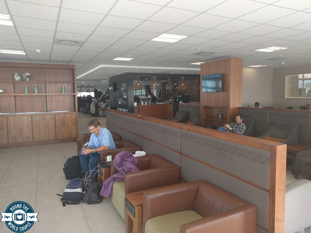 South African Airlines Premium Lounge at OR Tambo Seating