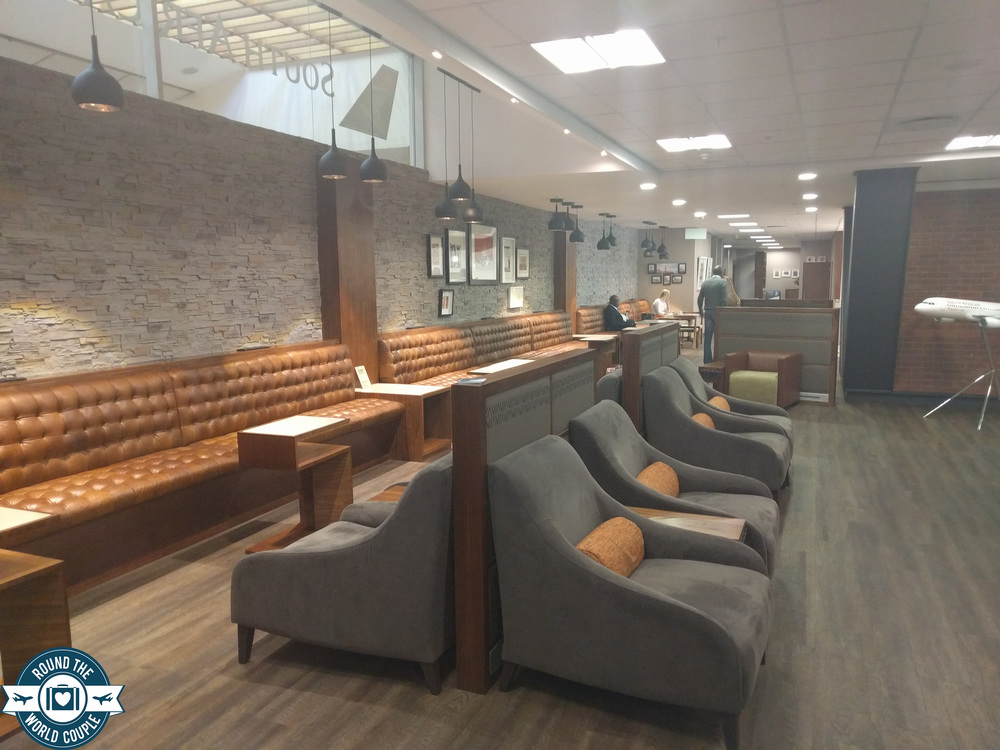 South African Airlines Premium Lounge at OR Tambo Seating 3