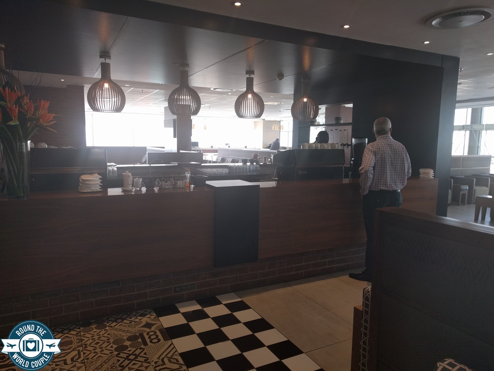 South African Airlines Premium Lounge at OR Tambo Espresso bar