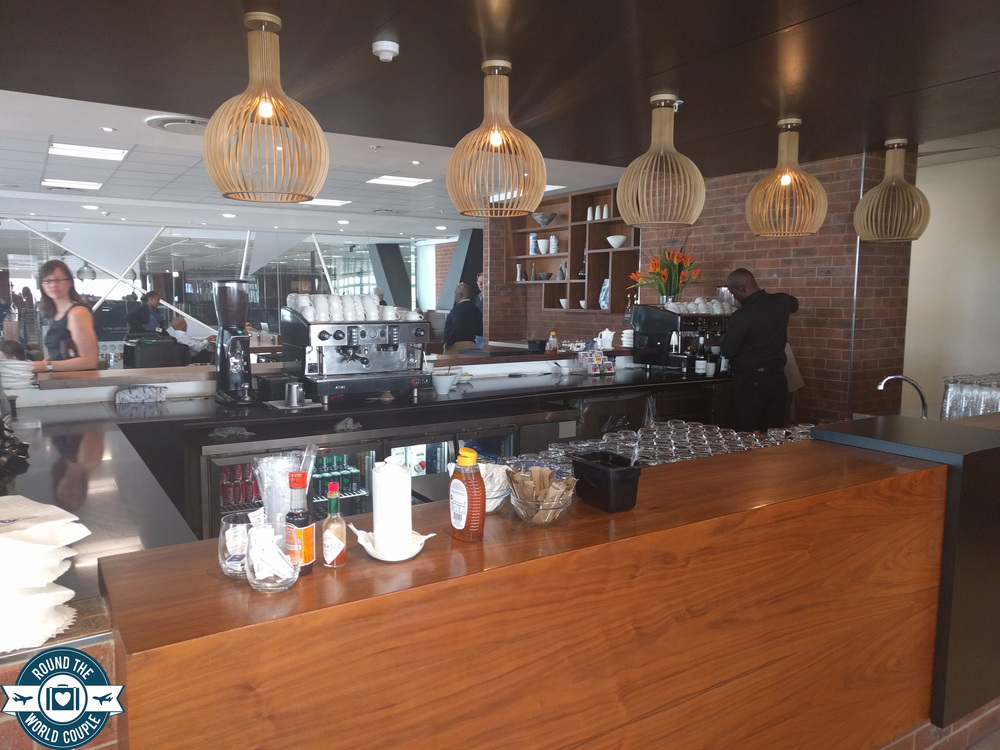 South African Airlines Premium Lounge at OR Tambo espresso 2