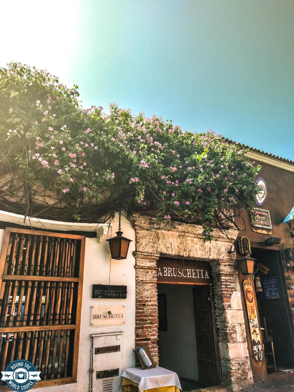 Cartagena- Restaurant Ext with roof flower RTW.jpg