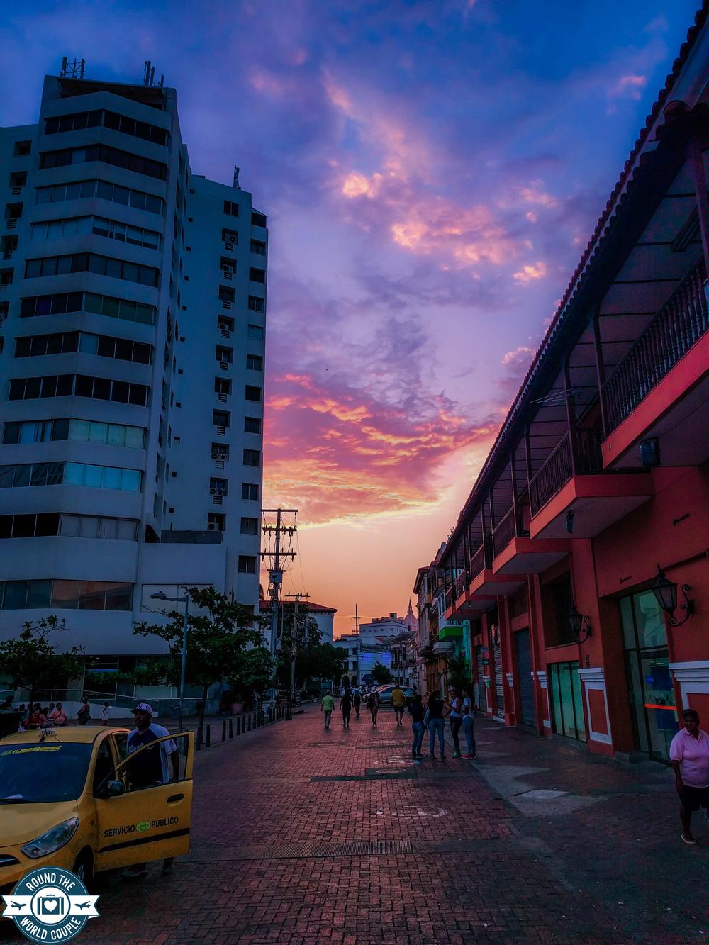 Cartagena- sunset street scene RTW.jpg