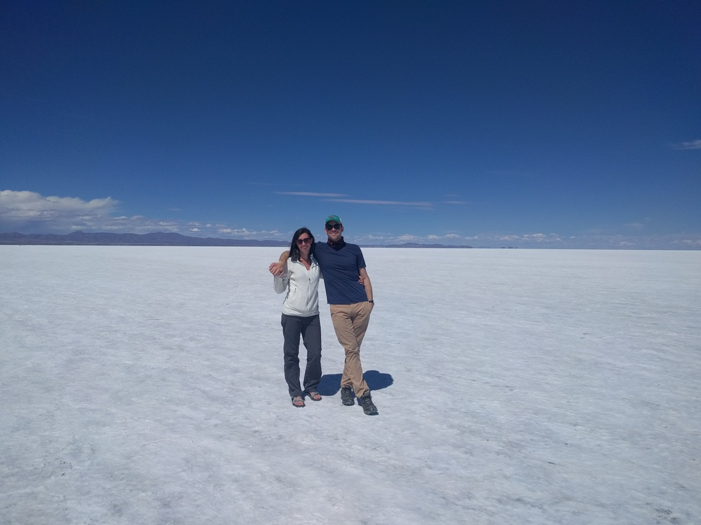 Us lookin' good at the Salt Flats in Bolivia