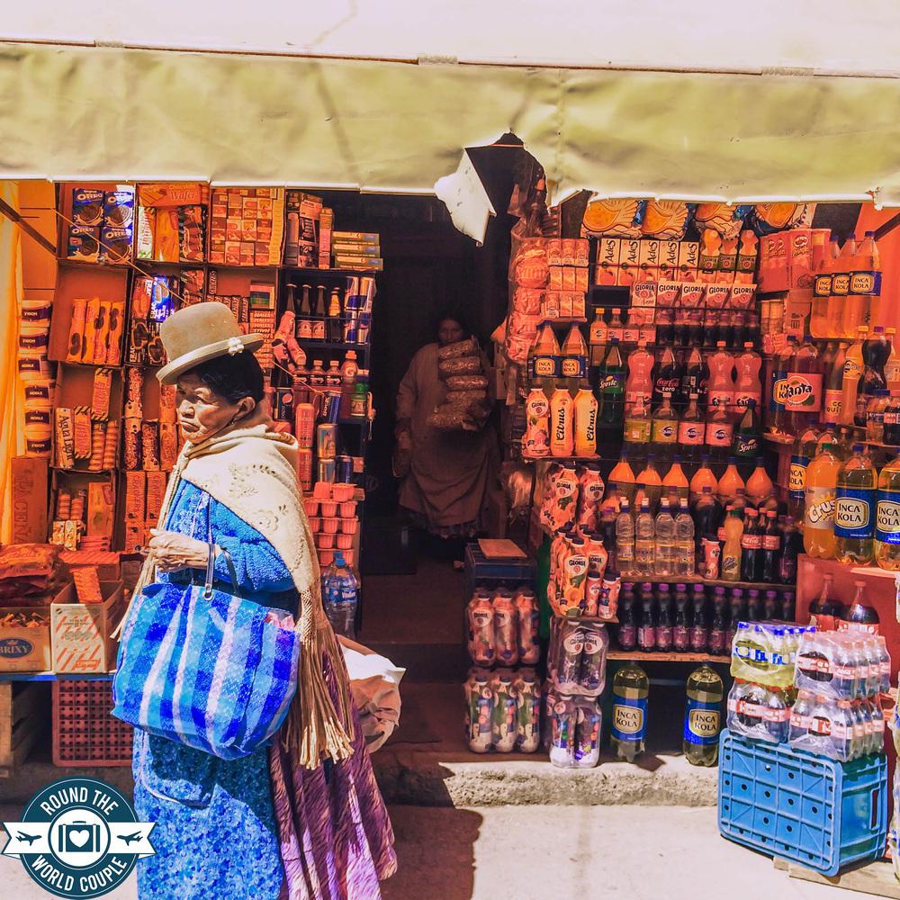 Street and Woman, Puno, Peru