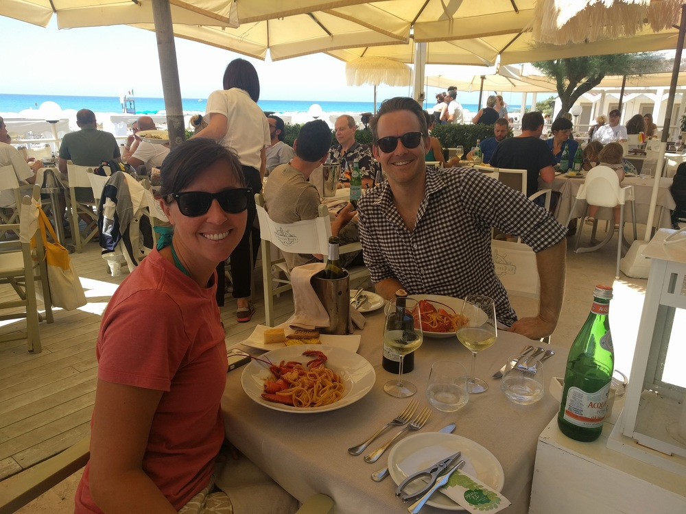 Lunch by the sea in Tuscany.
