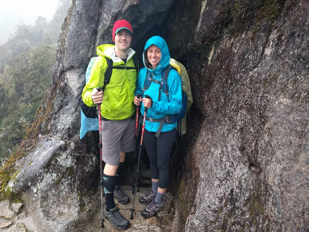Freezing and wet on the Inca Trail.