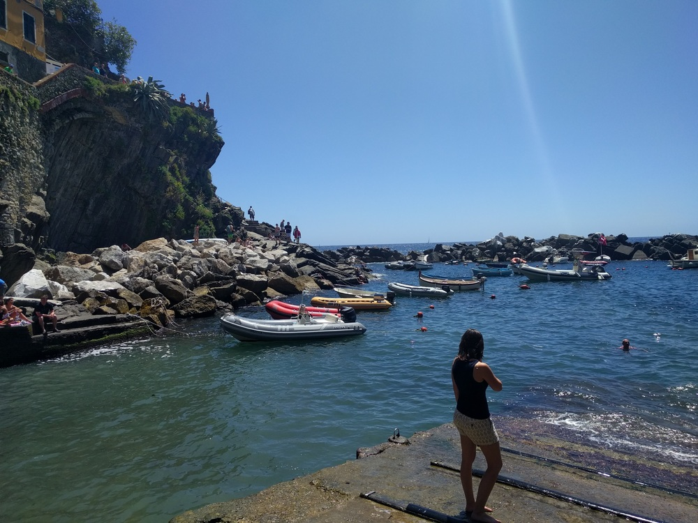 Exploring in Cinque Terre, Italy.
