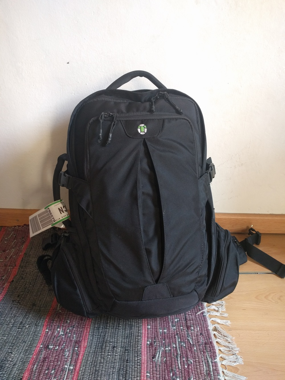 The Tortuga Travel Backpack is designed to make maximum use of the dimensions available for carry-on on most non-discount airlines. This bag will not meet carry-on requirements for Ryan Air, for example.