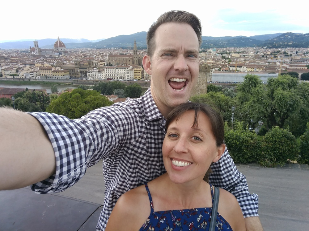 Cheesin' in Florence.