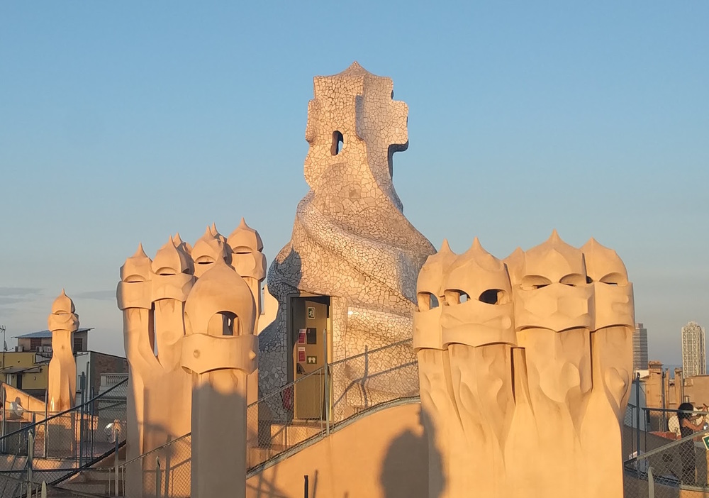 Gaudi's stormtrooper chimneys.