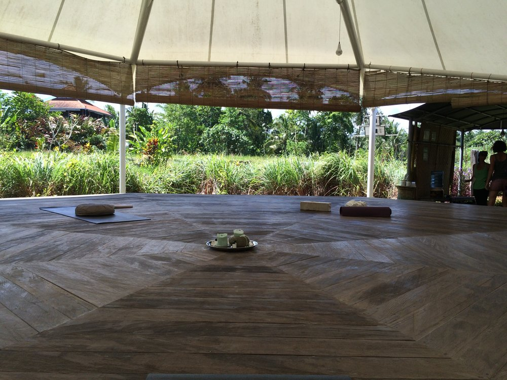The Bale, where yoga and meditation sessions take place.