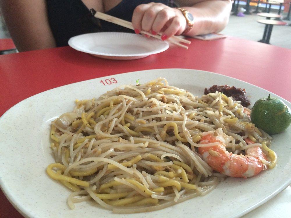 Stir Fried Noodles with Prawn