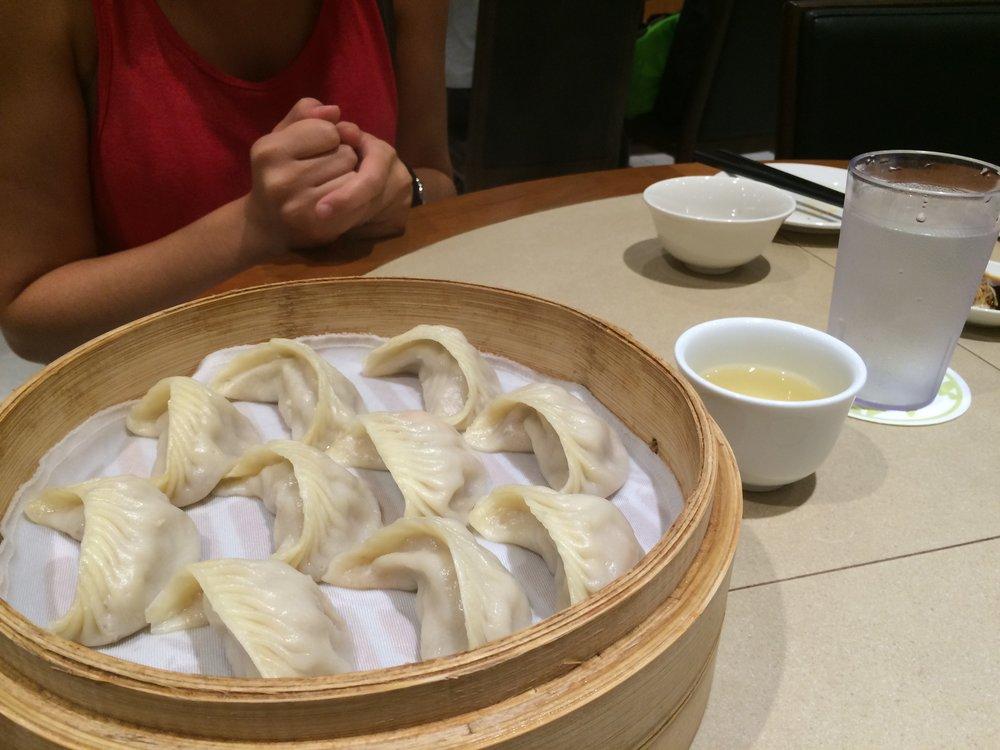Pork and shrimp dumplings from Din Tai Fung