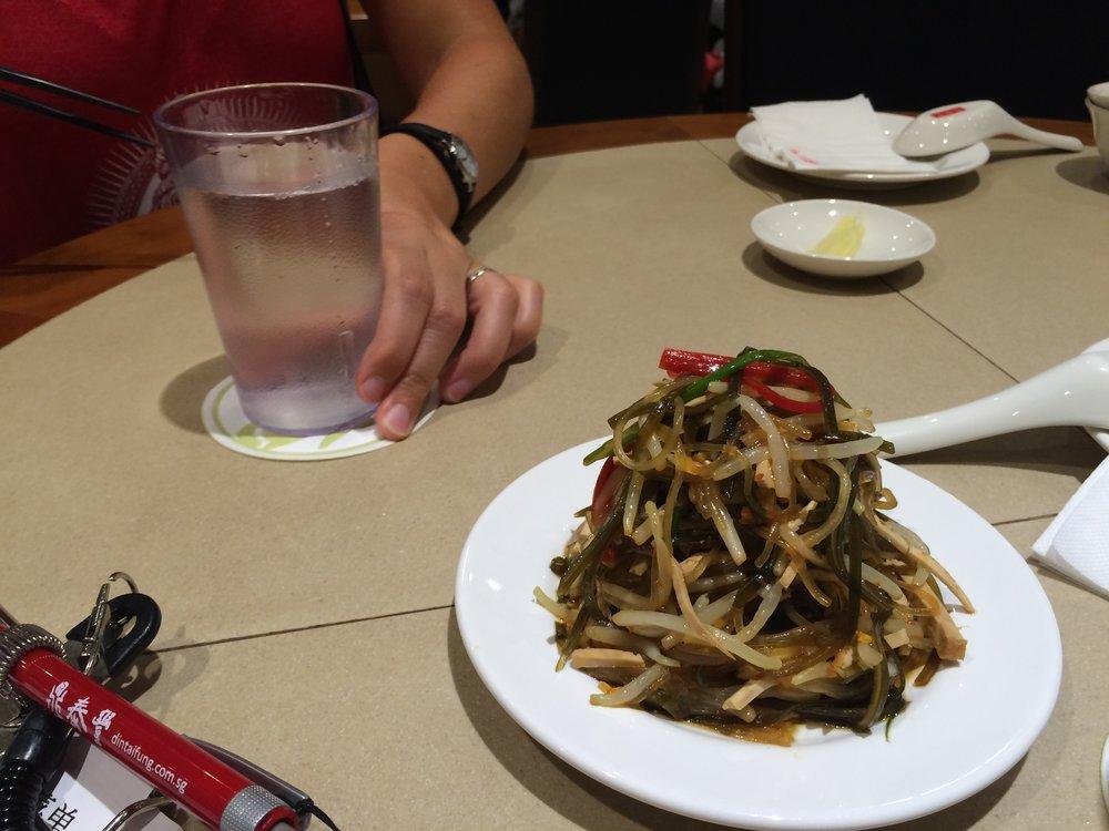 Seaweed salad from Din Tai Fung