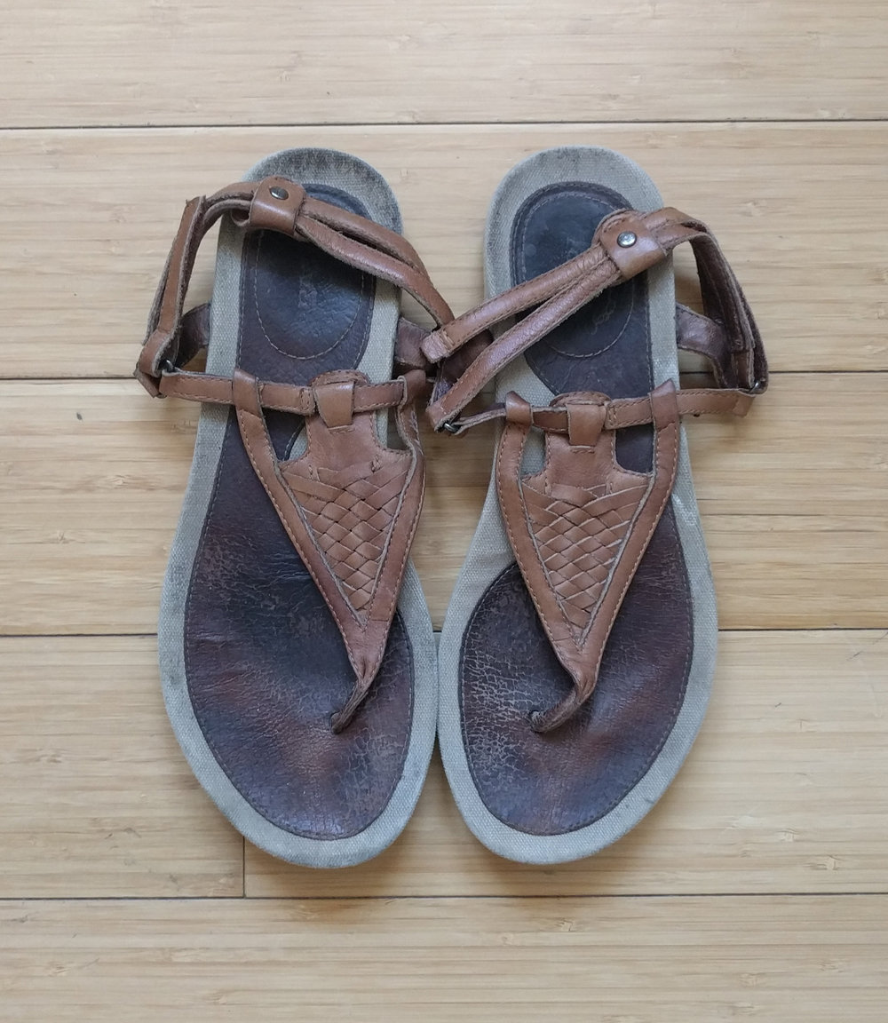 Teva Leather Thong Sandals