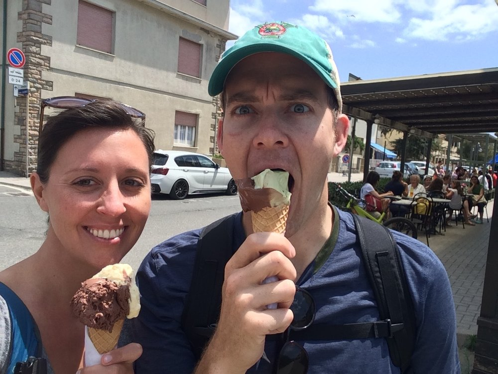 Unnecessarily aggressive ice cream consumption. (Marina di Castagneto Carducci, Italy)