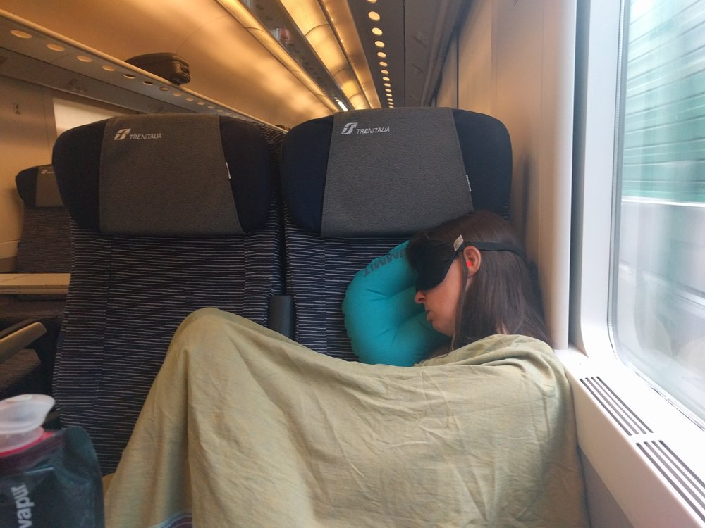 How I enjoy beautiful Italian train rides. (Milan, Italy)