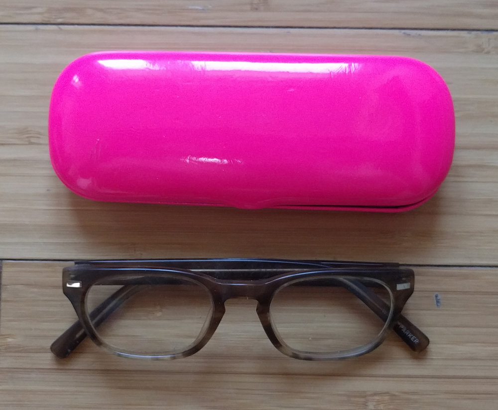 Warby Parker Glasses and Case