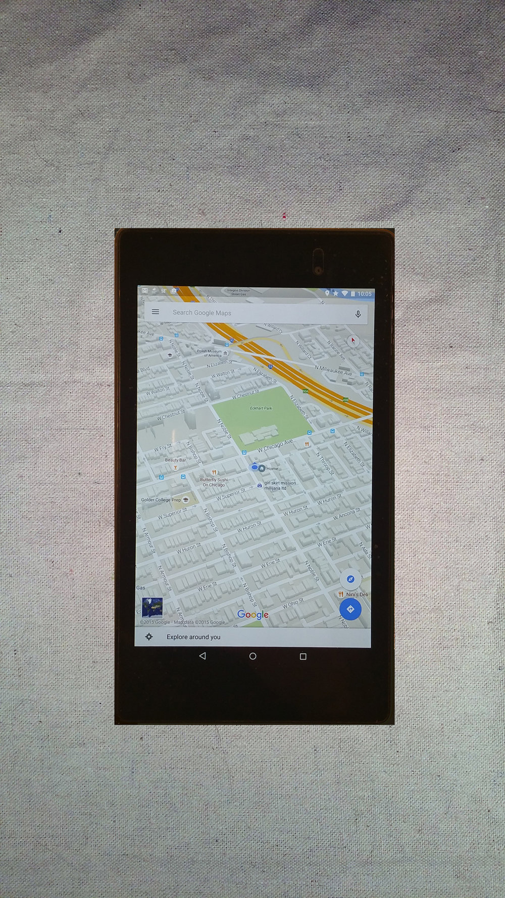 I sent my Nexus 7 Tablet home a few months into the trip.