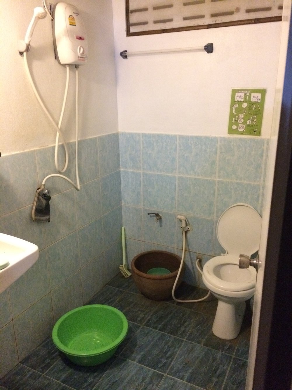 Our bathroom in Thailand.