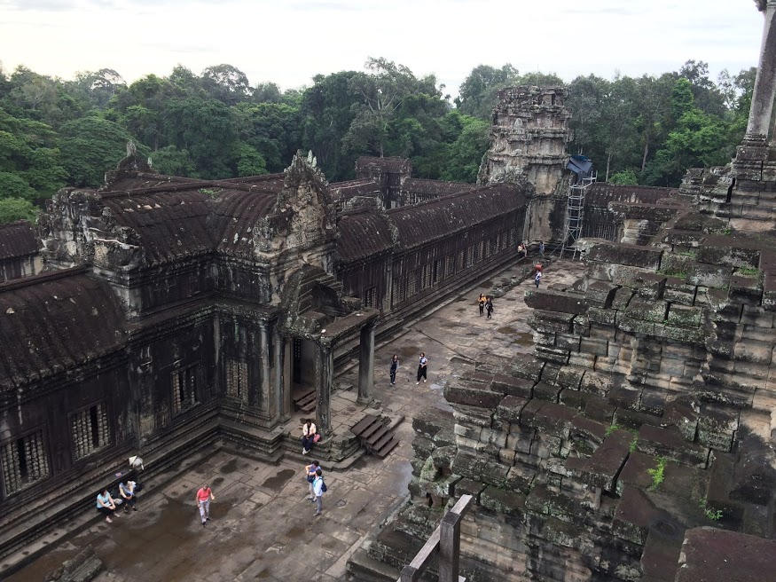 The view from the top of Angkor Wat.
