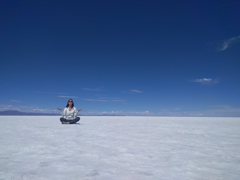 Salt flats in Bolivia.