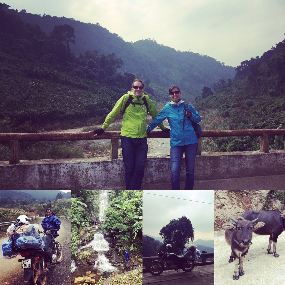 Biking along the Ho Chi Minh Trail in central Vietnam.