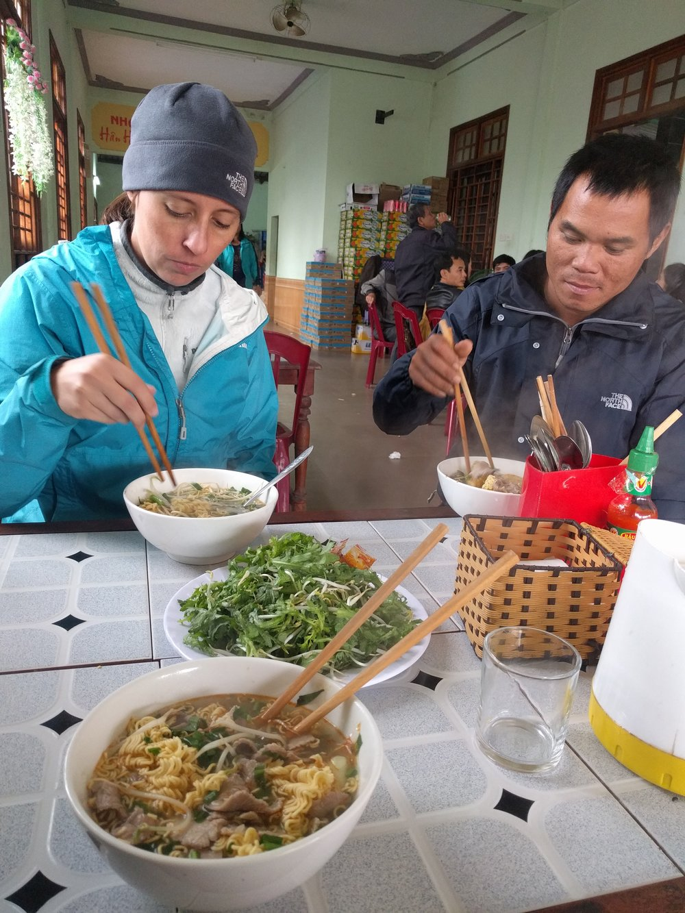 Breakfast and lunch were at any number of local roadside cafes and eateries.