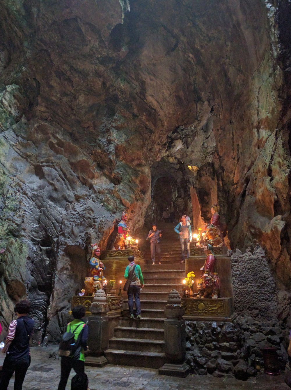 Marble Mountain has a number of beautiful and unique cave temples like this one.
