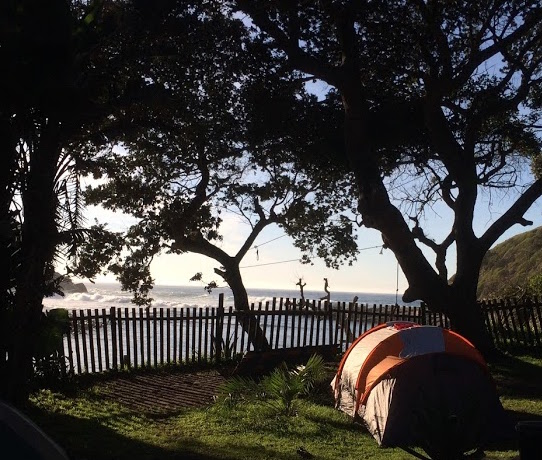 Our campsite at the beach in South Africa