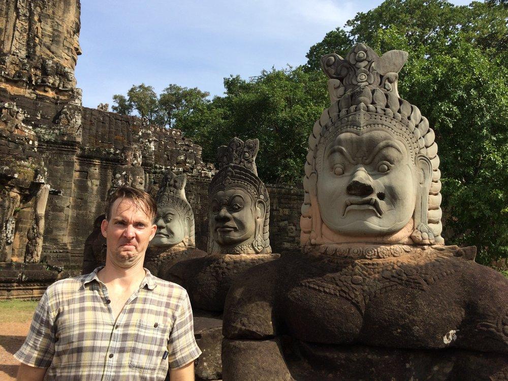 So good at impressions. (Angkor Wat, Cambodia)