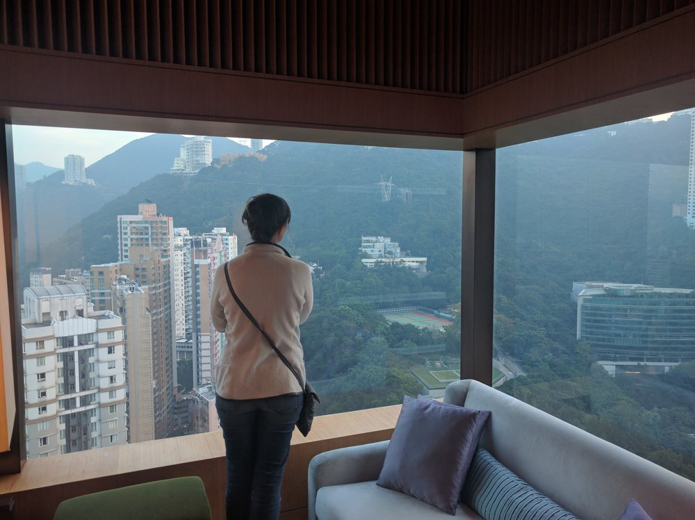 Taking in the view in Hong Kong