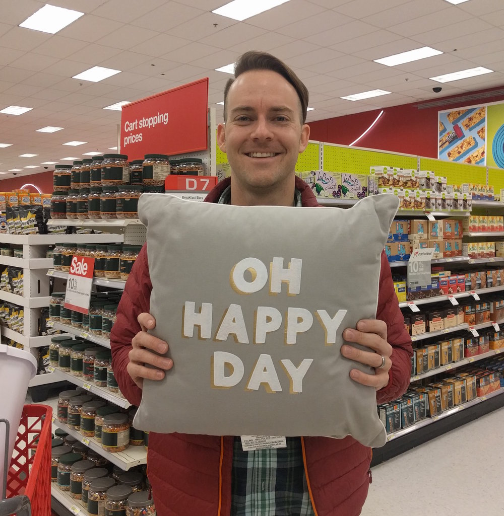 Happy to have found a new home. Celebrating in our second home, Target.