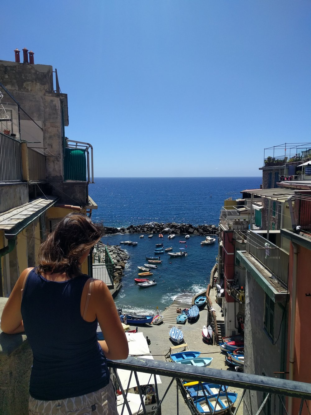 Enjoying the view in Cinque Terre, Italy