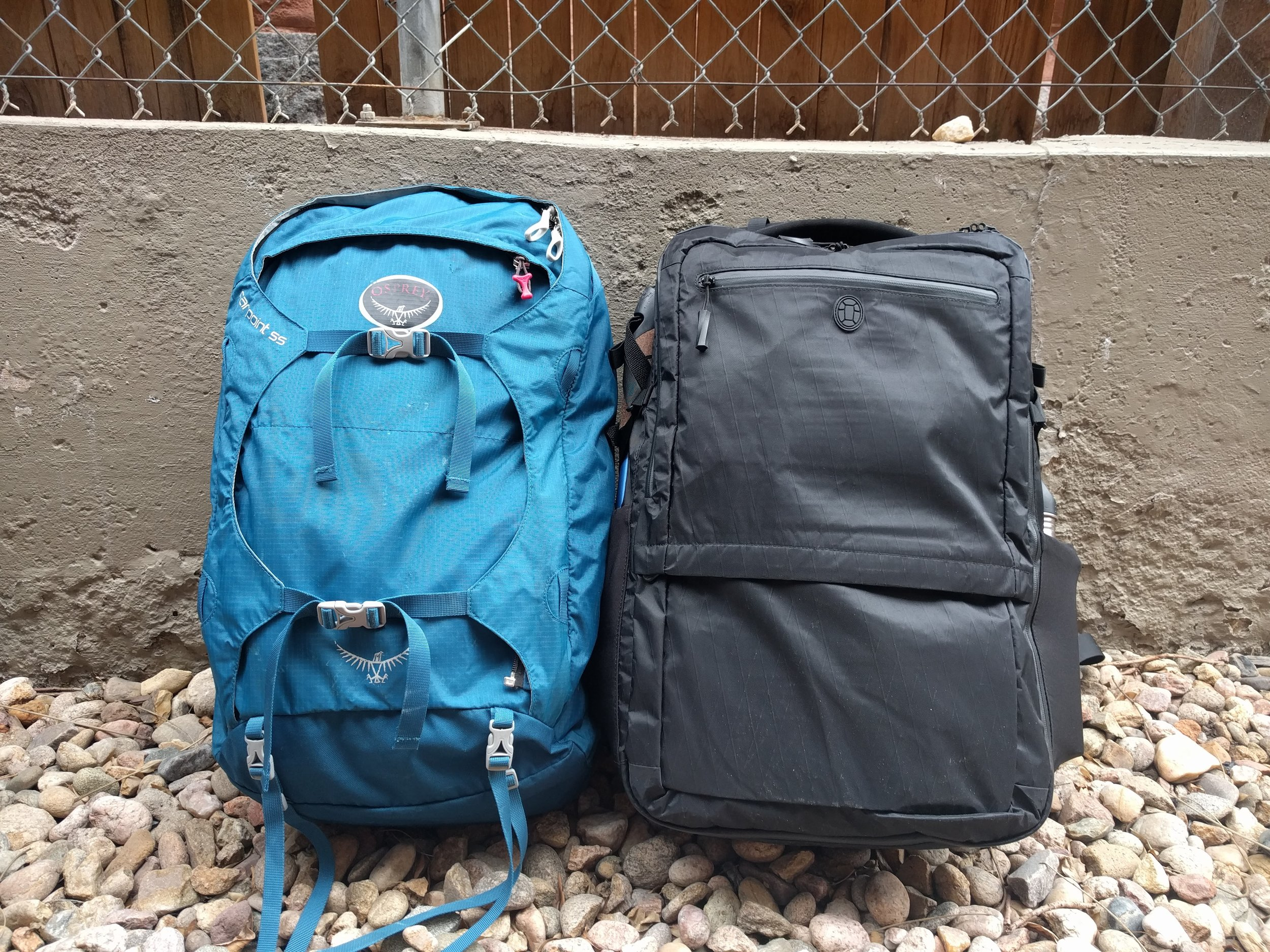 23eac8dcc Tortuga Outbreaker vs Osprey Farpoint 55- What's the best bag for long-term  travel