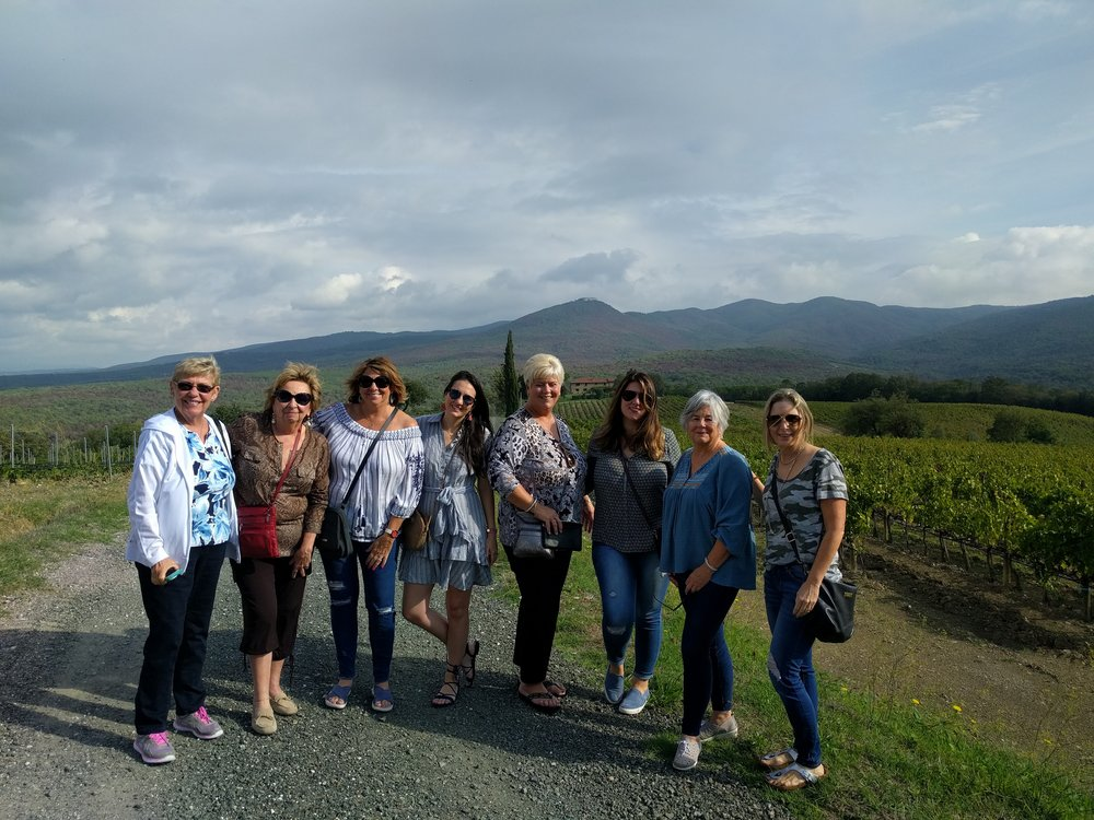 Our Cooking Vacation guests exploring the Tuscan countryside