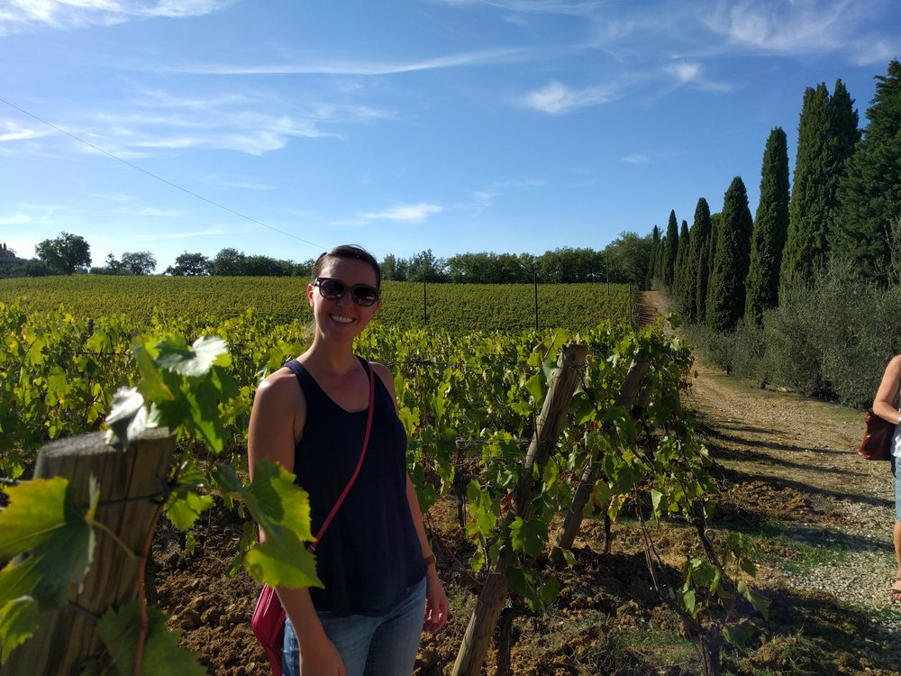 Me at a local vineyard in Montepulciano