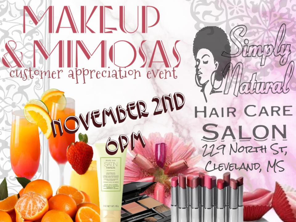 Make-up and Mimosas Event Promotional Flyer-Original