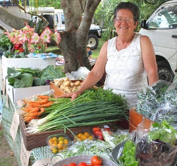 Trish Gabbana at the Peregian Markets (Photo Courtesy Peregian Markets Facebook Page)
