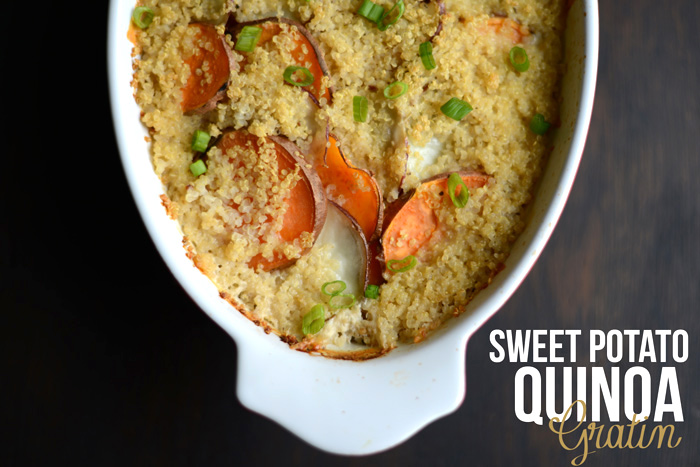 Quinoa & Sweet Potato Gratin